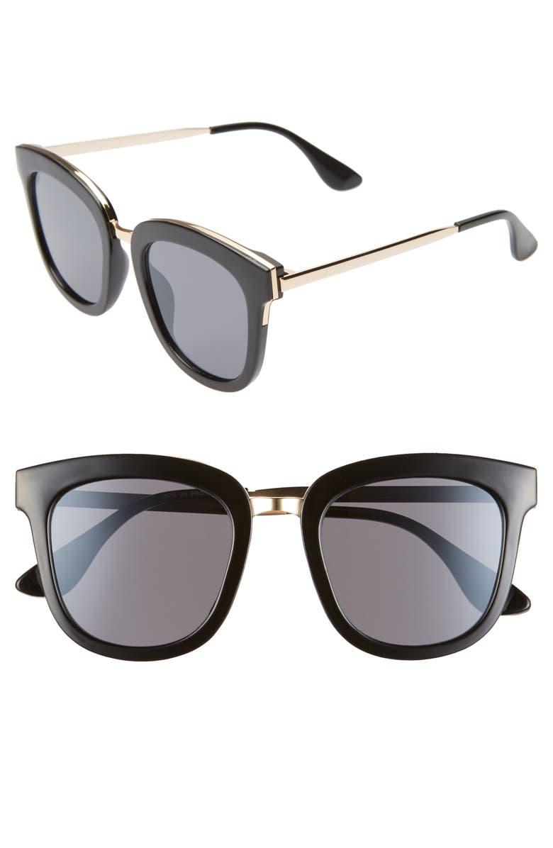 BP. 60mm Square Sunglasses, Main, color, 001