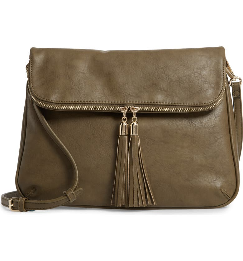 BP. Foldover Crossbody Bag, Main, color, 320