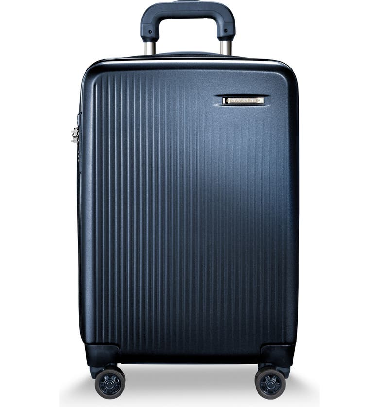 BRIGGS & RILEY 22-Inch Domestic Expandable Spinner Wheeled Suitcase, Main, color, NAVY