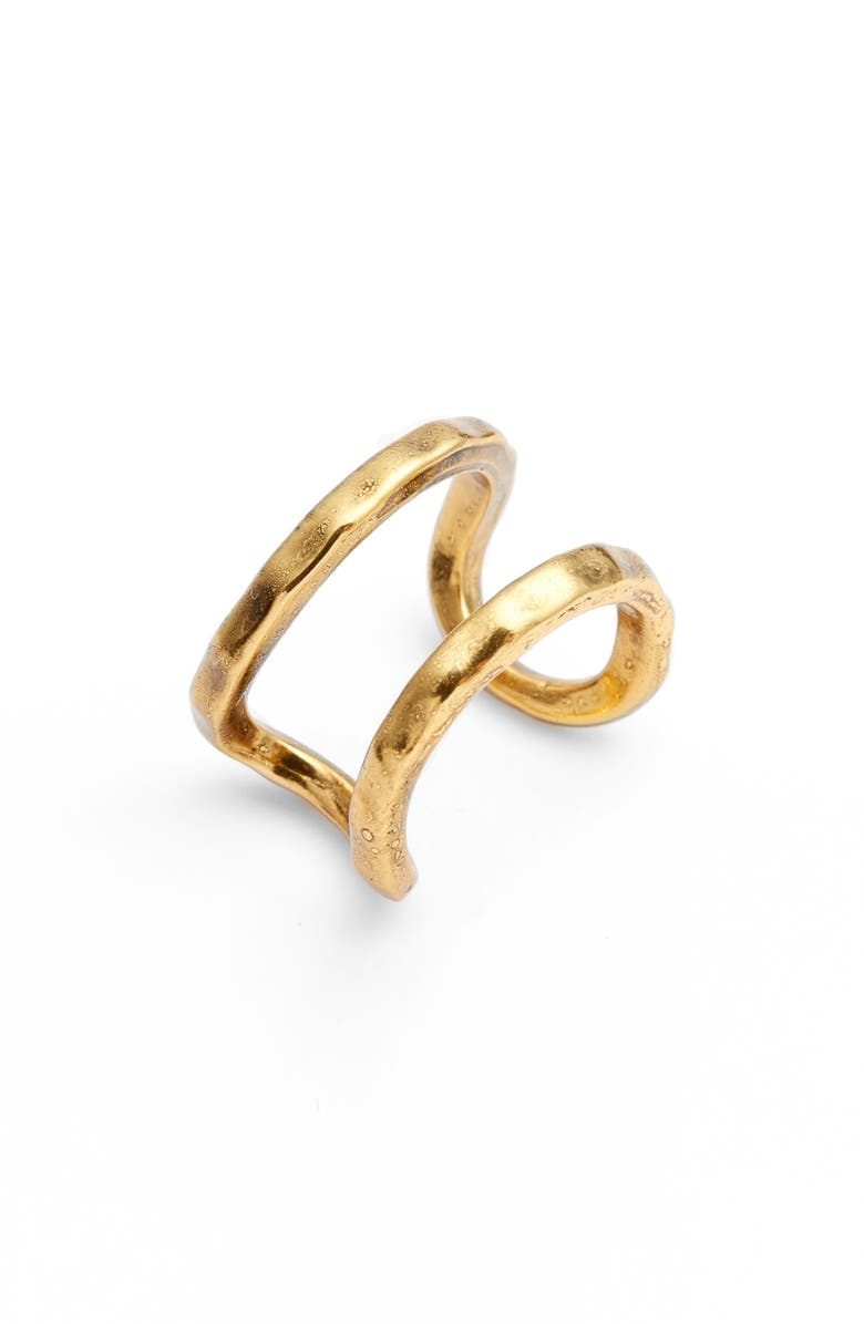 KARINE SULTAN Adjustable Openwork Ring, Main, color, GOLD
