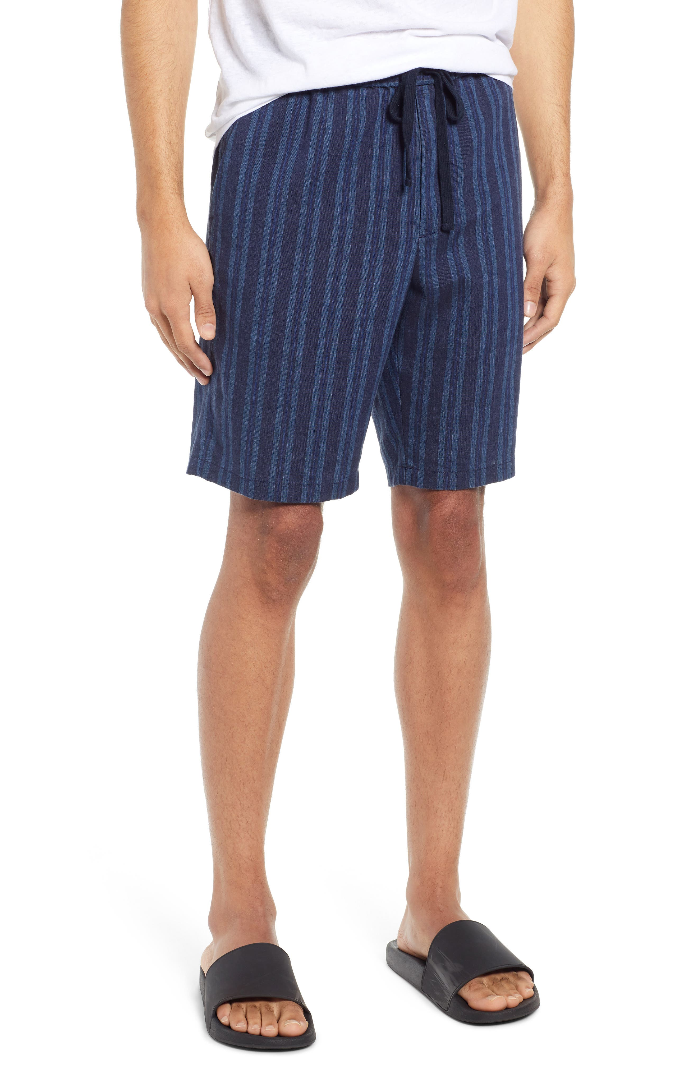 Image of Vince Stripe Print Pull-On Shorts
