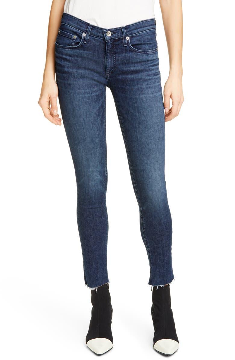 RAG & BONE Raw Hem Ankle Skinny Jeans, Main, color, WILTON