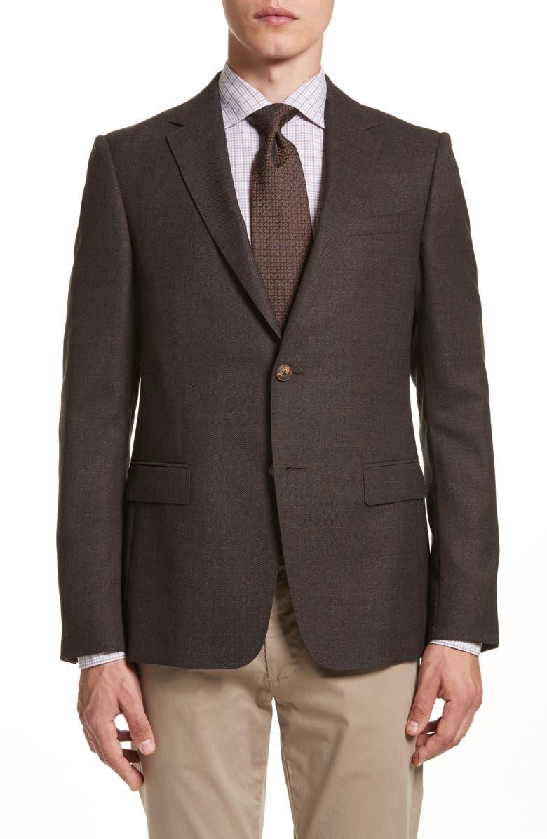 Z ZEGNA Classic Fit Wool Blazer, Main, color, 202