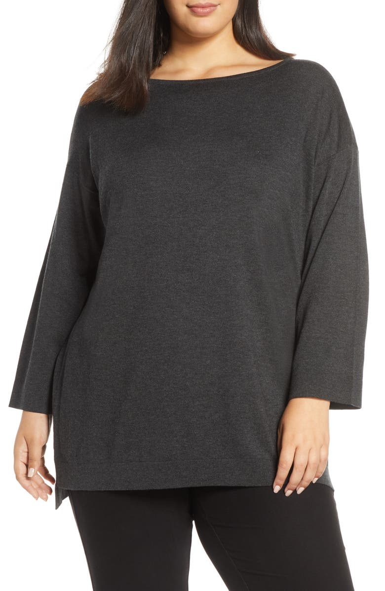 EILEEN FISHER Bateau Neck Sweater, Main, color, 021