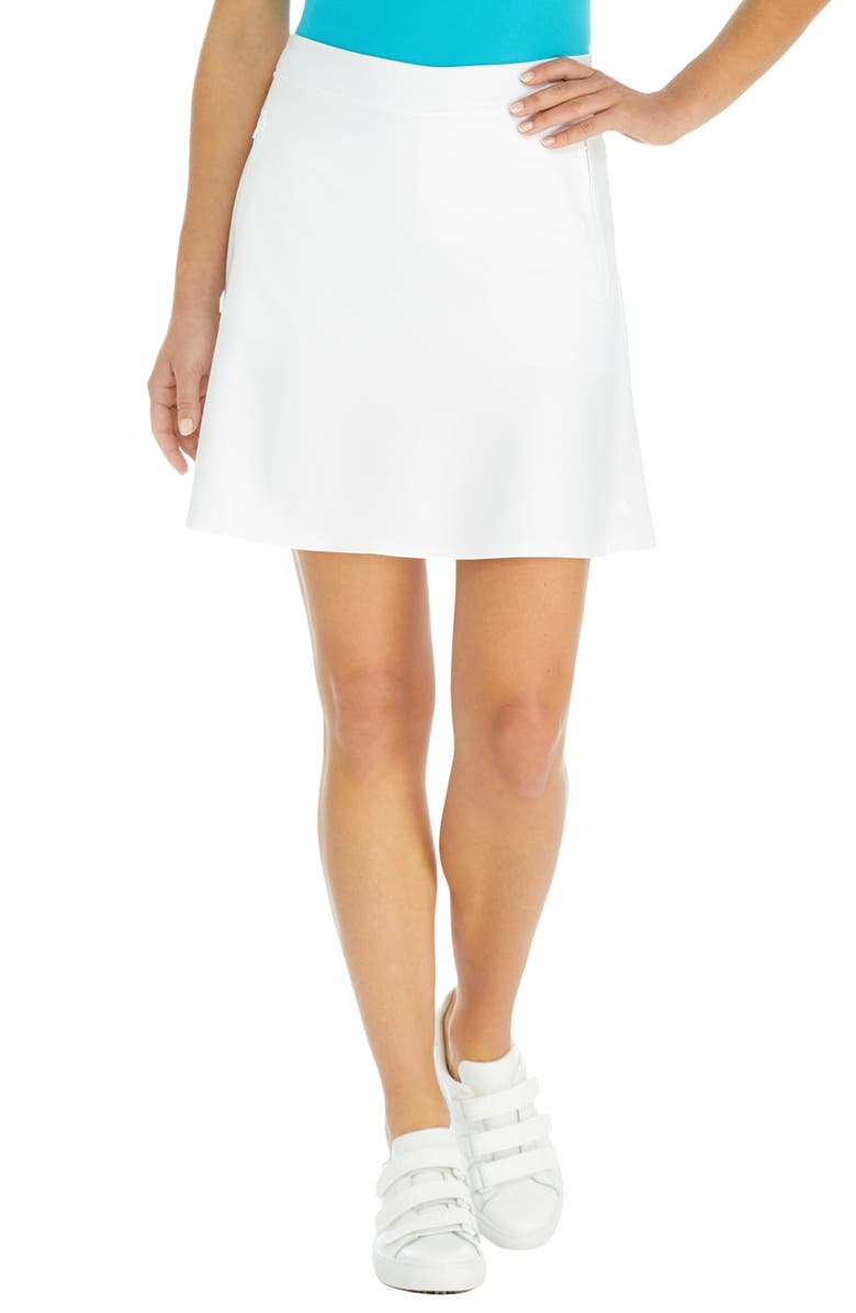 G/FORE Effortless Golf Skort, Main, color, SNOW