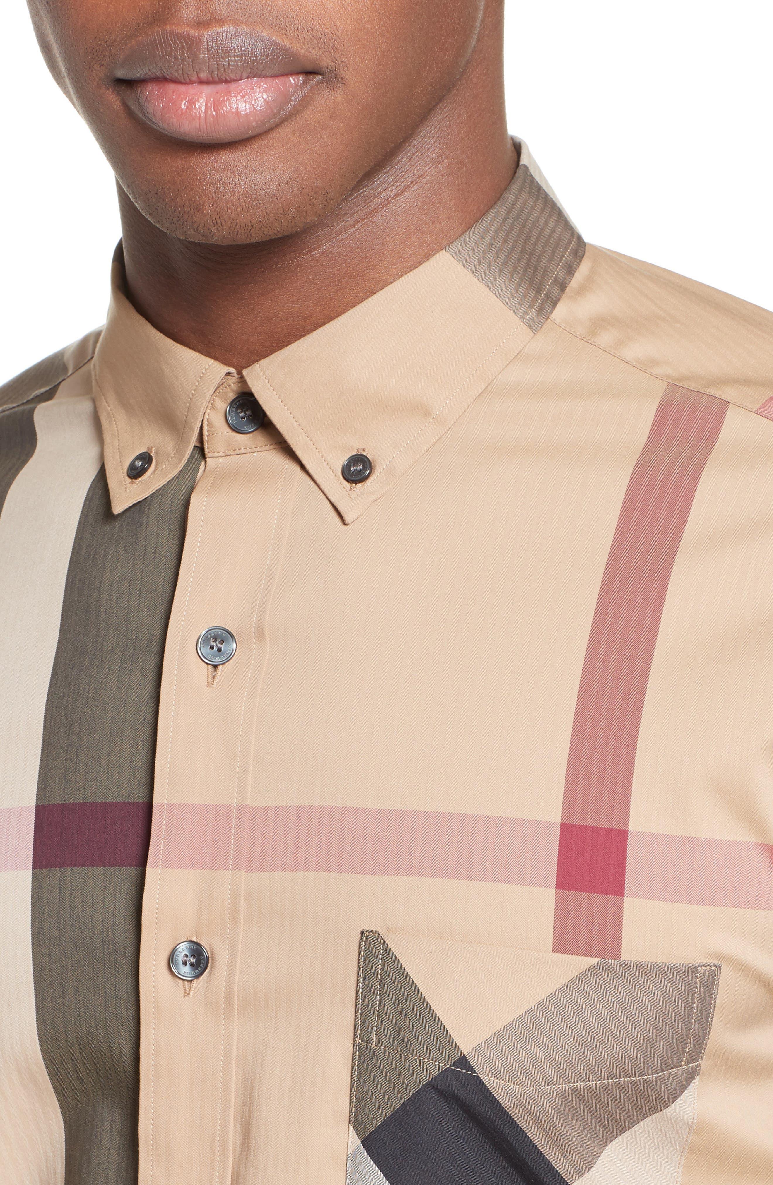 ,                             Thornaby Slim Fit Plaid Sport Shirt,                             Alternate thumbnail 7, color,                             251