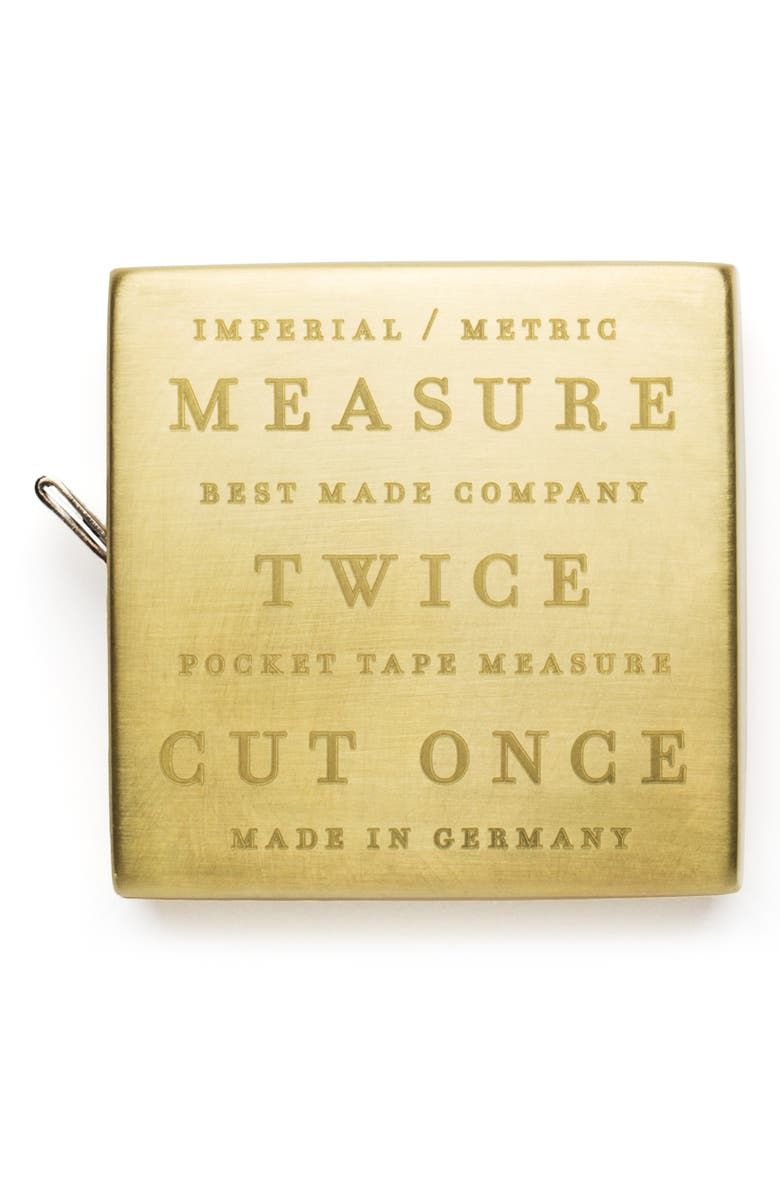BEST MADE CO. Solid Brass Pocket Tape, Main, color, BRASS