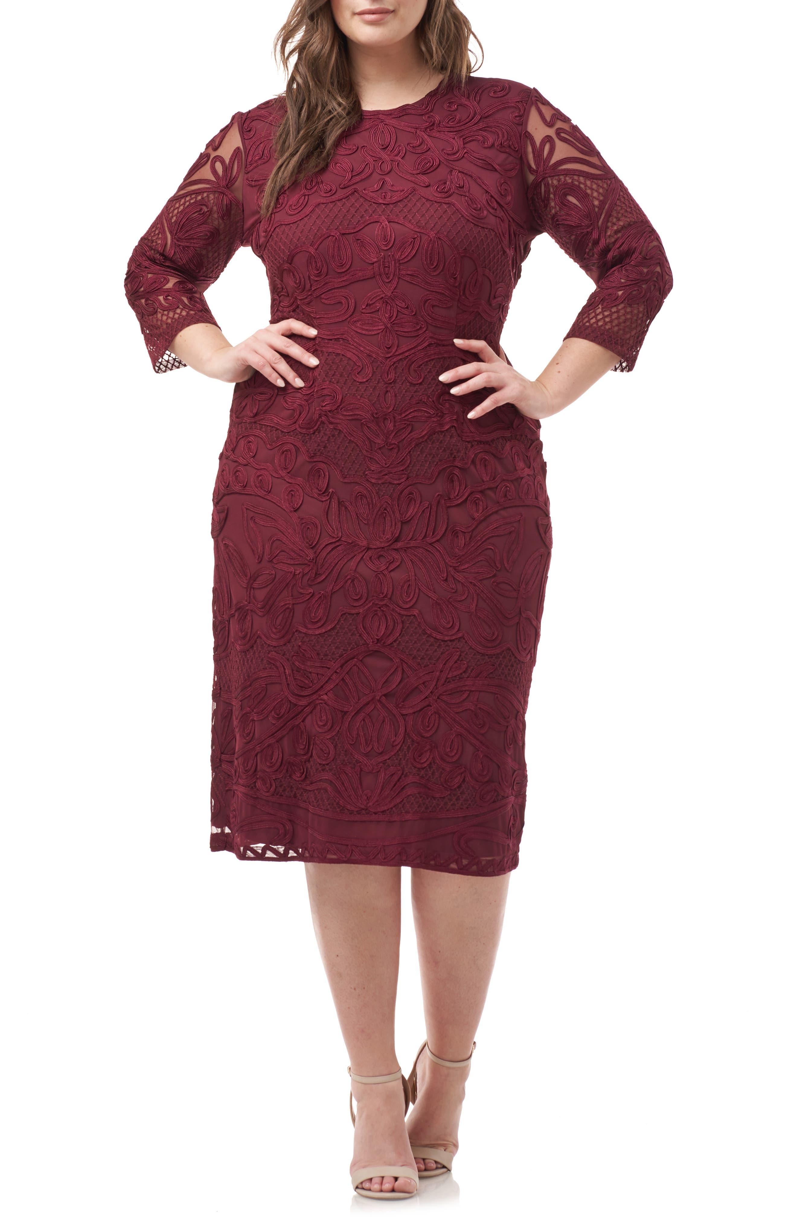 ,                             Soutache Sheath Dress,                             Main thumbnail 13, color,                             930