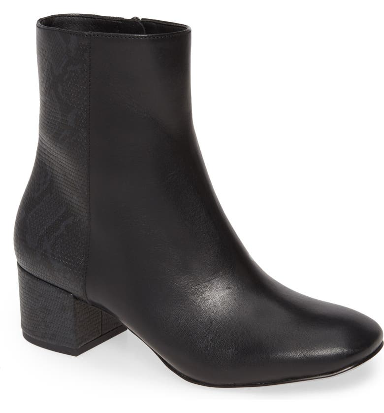 DONALD PLINER Cindee Bootie, Main, color, BLACK LEATHER