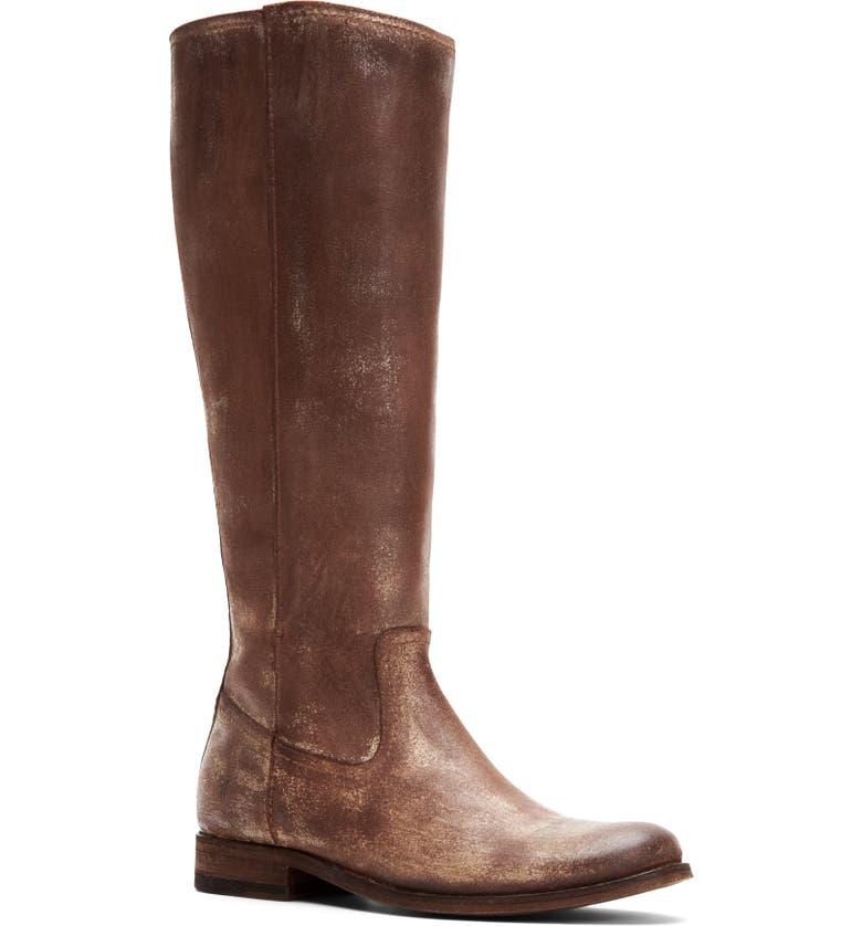FRYE Melissa Knee High Boot, Main, color, CHOCOLATE SUEDE
