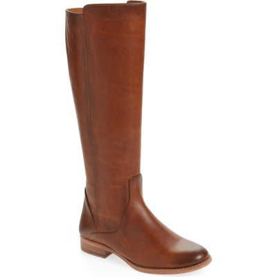 Frye Carly Tall Boot Ext Calf- Brown