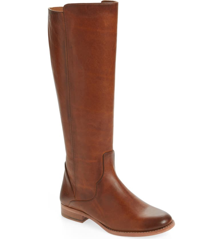 FRYE Carly Tall Boot, Main, color, CARAMEL