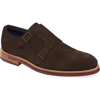 Ted Baker London Clinnte Double Monk Strap Shoe, Brown