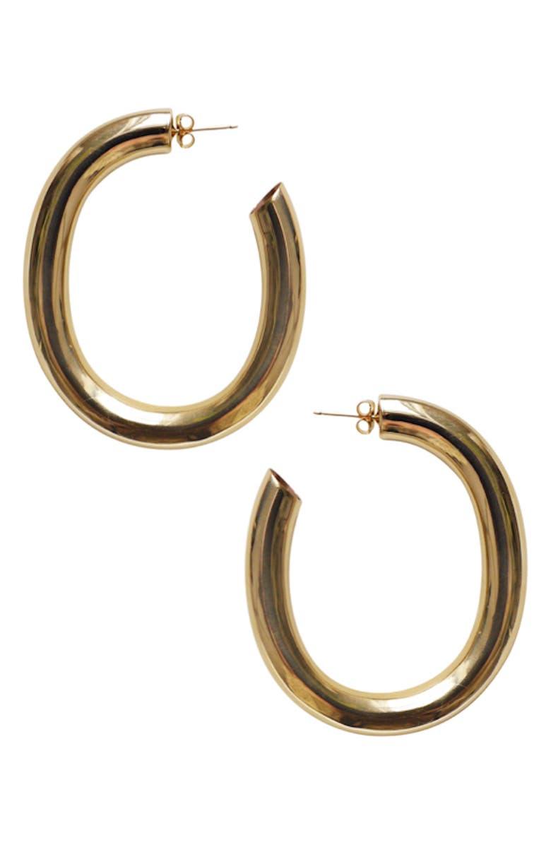 LAURA LOMBARDI Curve Hoop Earrings, Main, color, 710