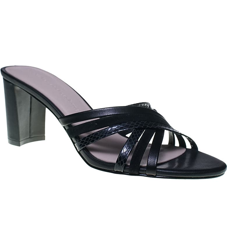 CUPCAKES AND CASHMERE Mavell Sandal, Main, color, BLACK MULTI LEATHER