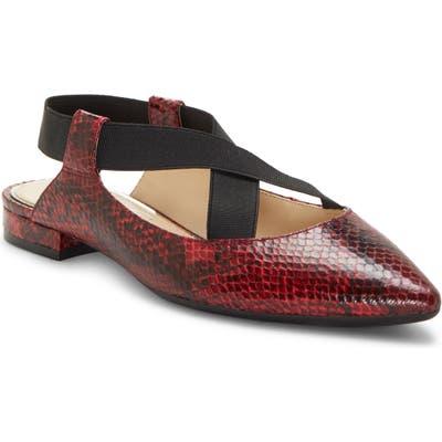 Jessica Simpson Lurina Pointy Toe Flat- Red
