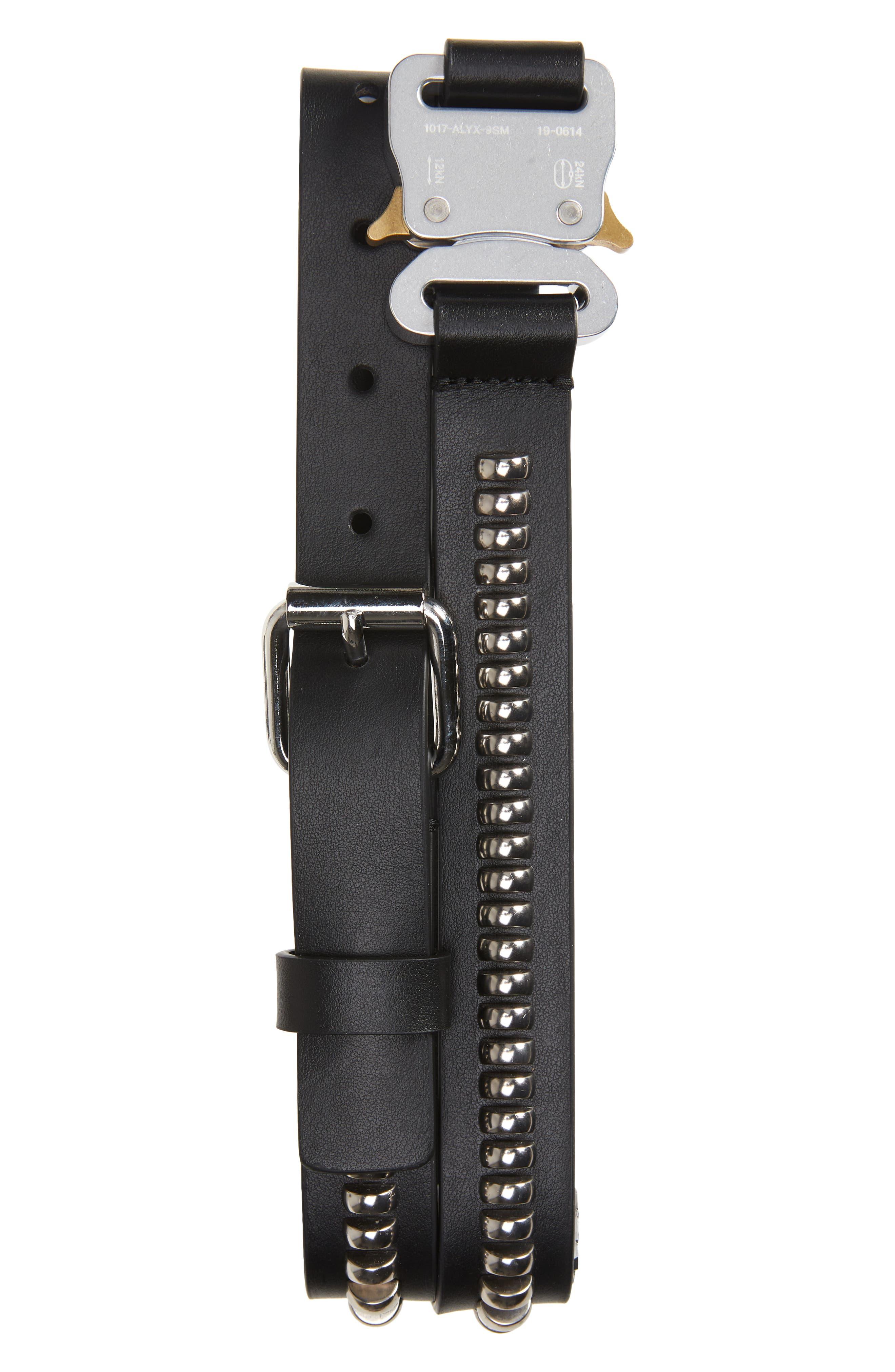 1017 Alyx 9Sm Medium Roller Coaster Buckle Studded Leather Belt