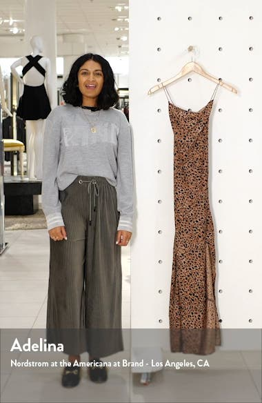 Love Bias Leopard Print Cover-Up Maxi Dress, sales video thumbnail
