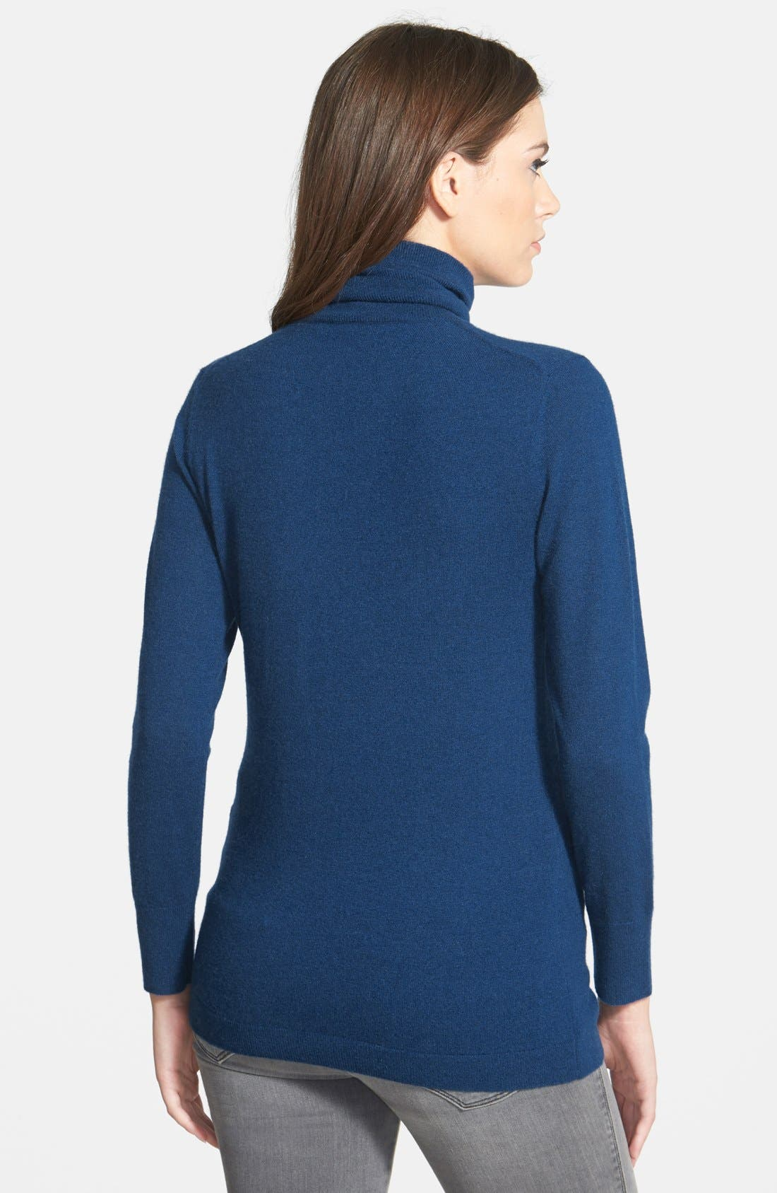 ,                             Long Cashmere Turtleneck Sweater,                             Alternate thumbnail 27, color,                             402