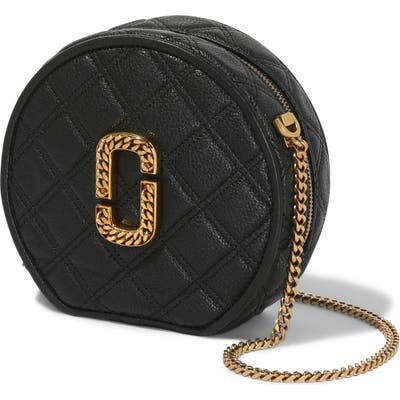 Marc Jacobs The Status Quilted Leather Crossbody Bag - Black