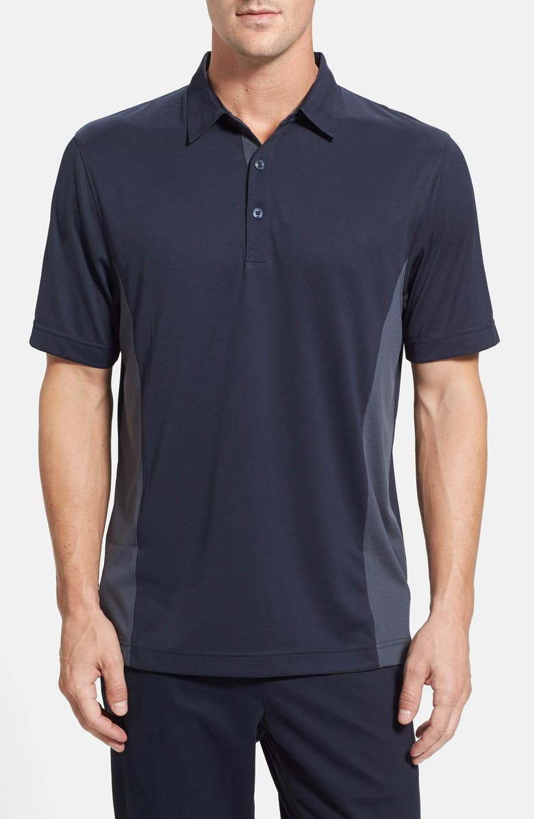 CUTTER & BUCK 'Willows' Colorblock DryTec Polo, Main, color, NAVY BLUE/ ONYX