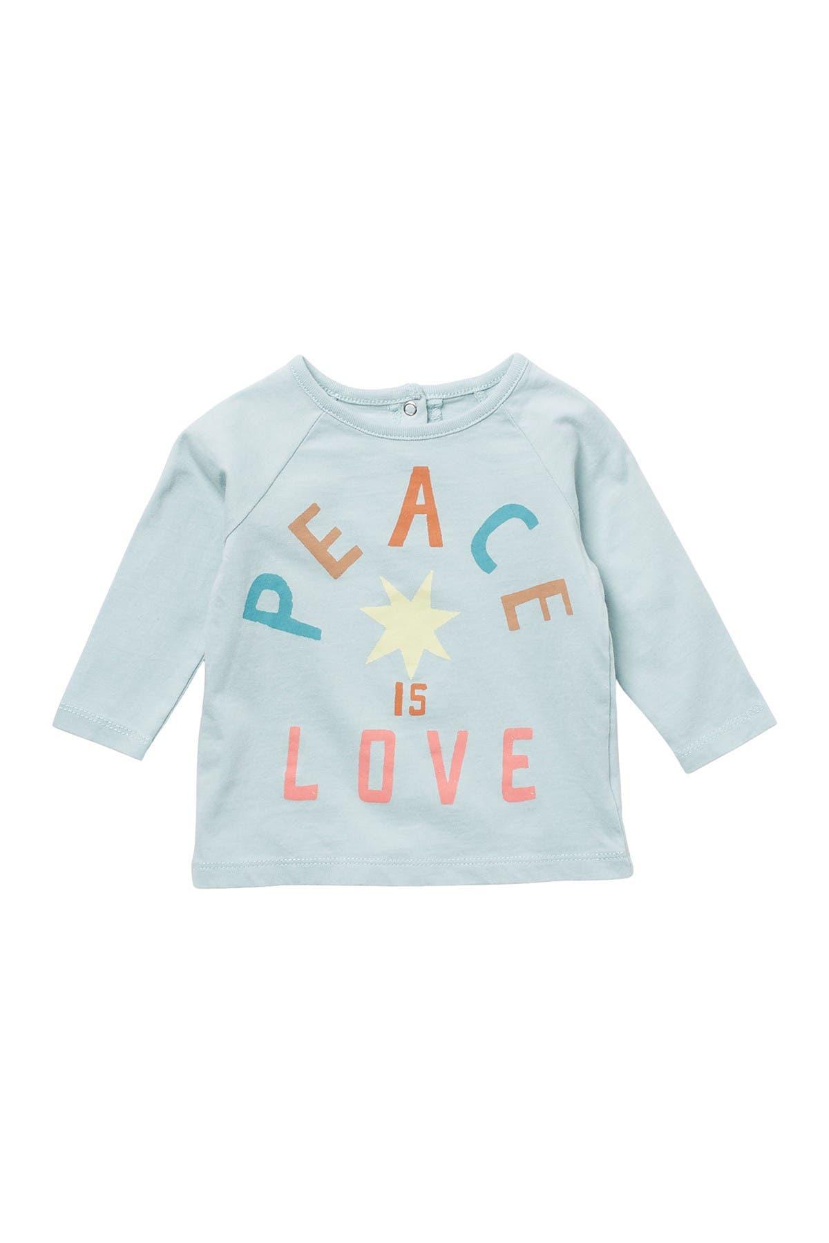 Image of PEEK ESSENTIALS Emmerson Peach Is Love Long Sleeve T-Shirt