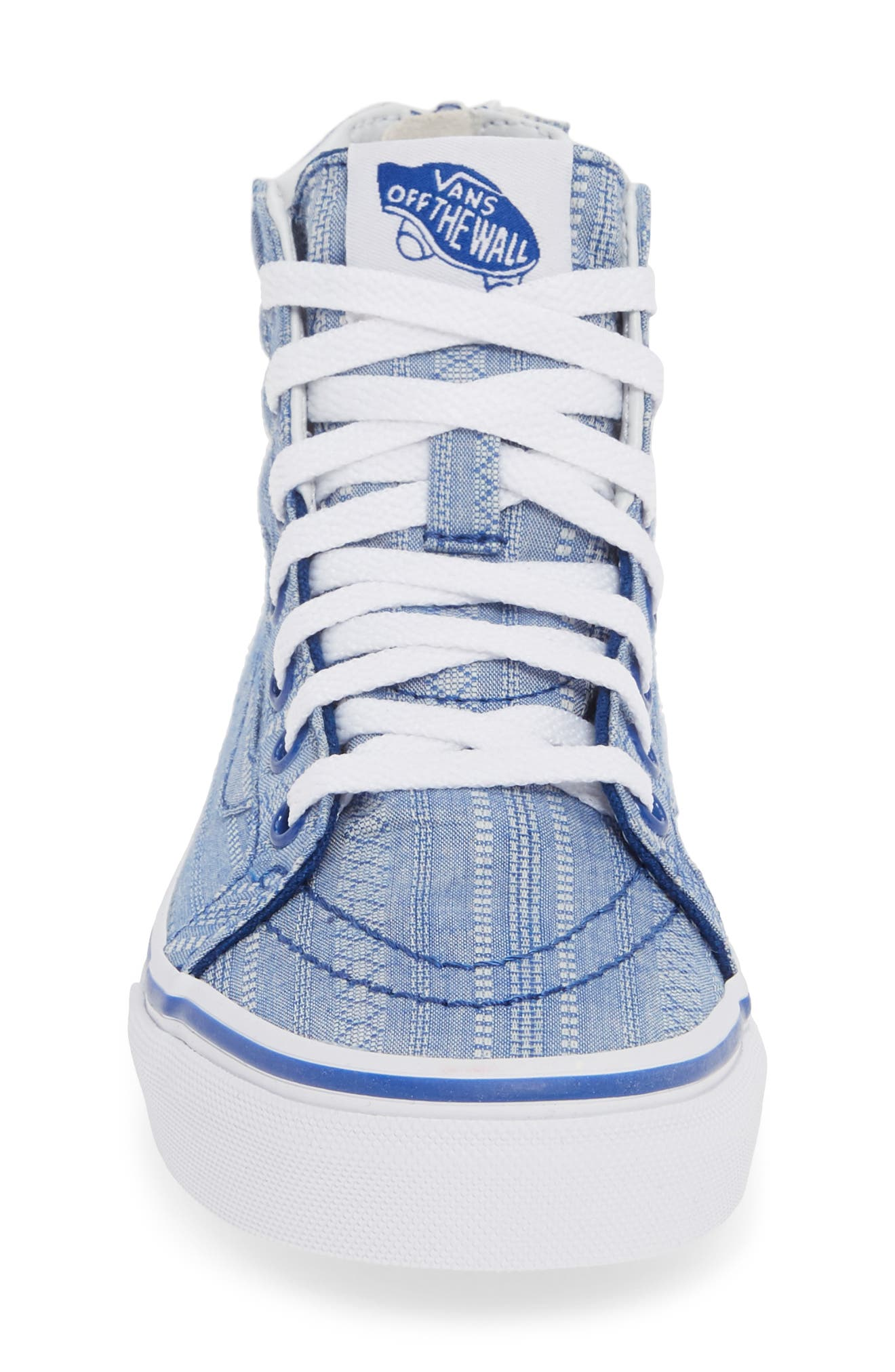 ,                             Sk8-Hi Zip Sneaker,                             Alternate thumbnail 4, color,                             TRUE BLUE/ TRUE WHITE