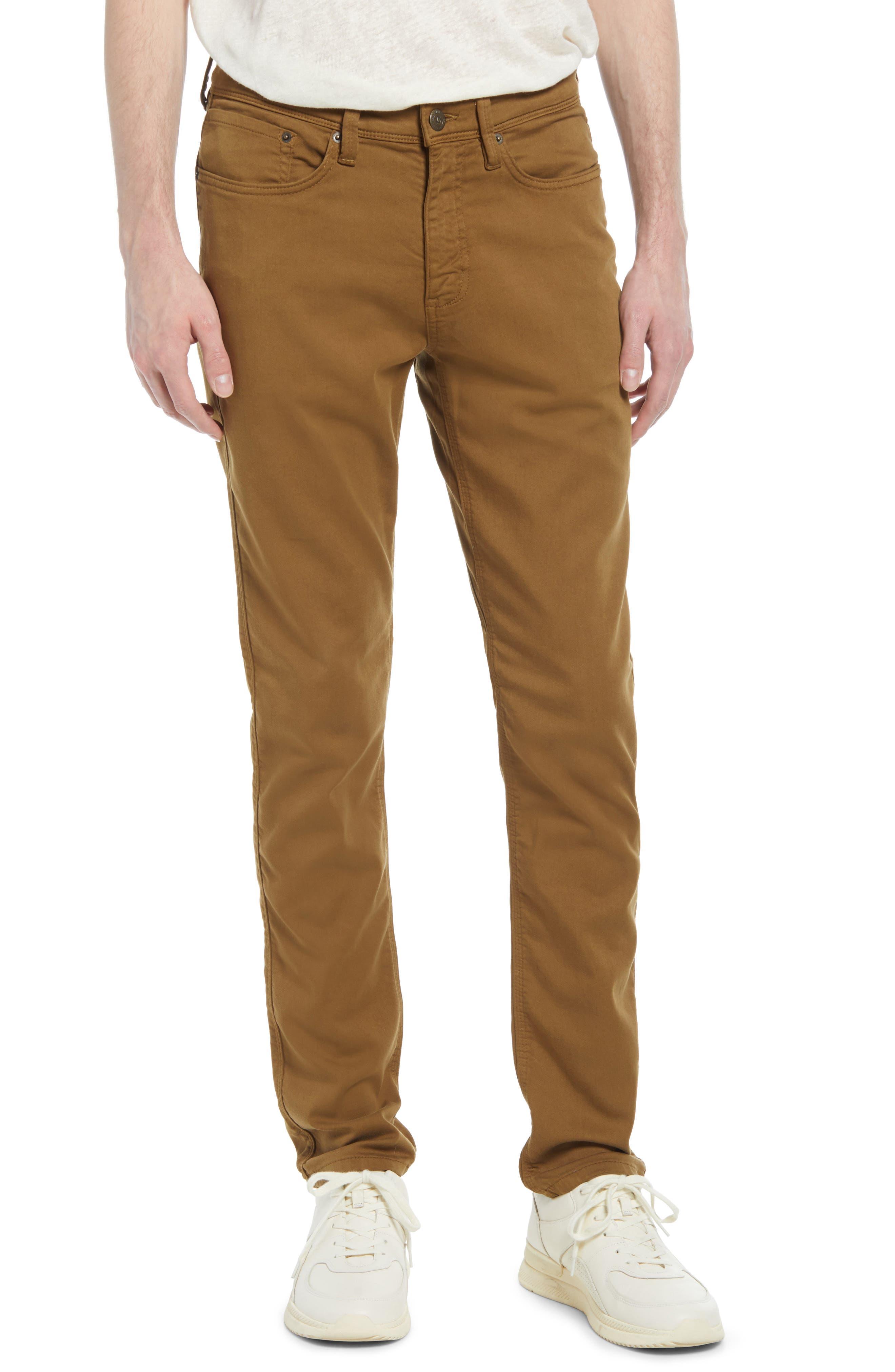 Men's No Sweat Stretch Cotton Blend Five Pocket Pants