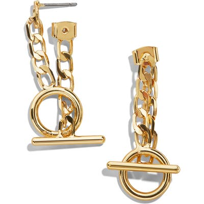 Baublebar Gia Curb Chain Toggle Drop Earrings
