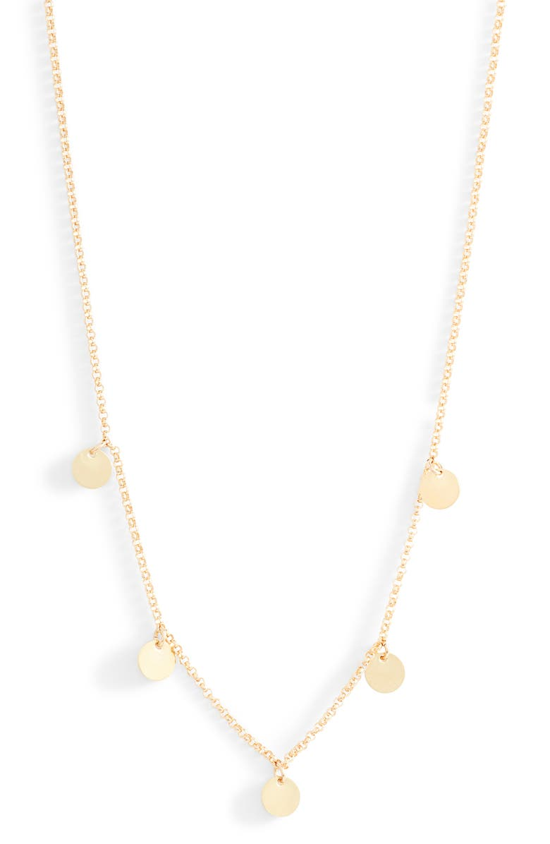 MARIDA Madrid Necklace, Main, color, GOLD