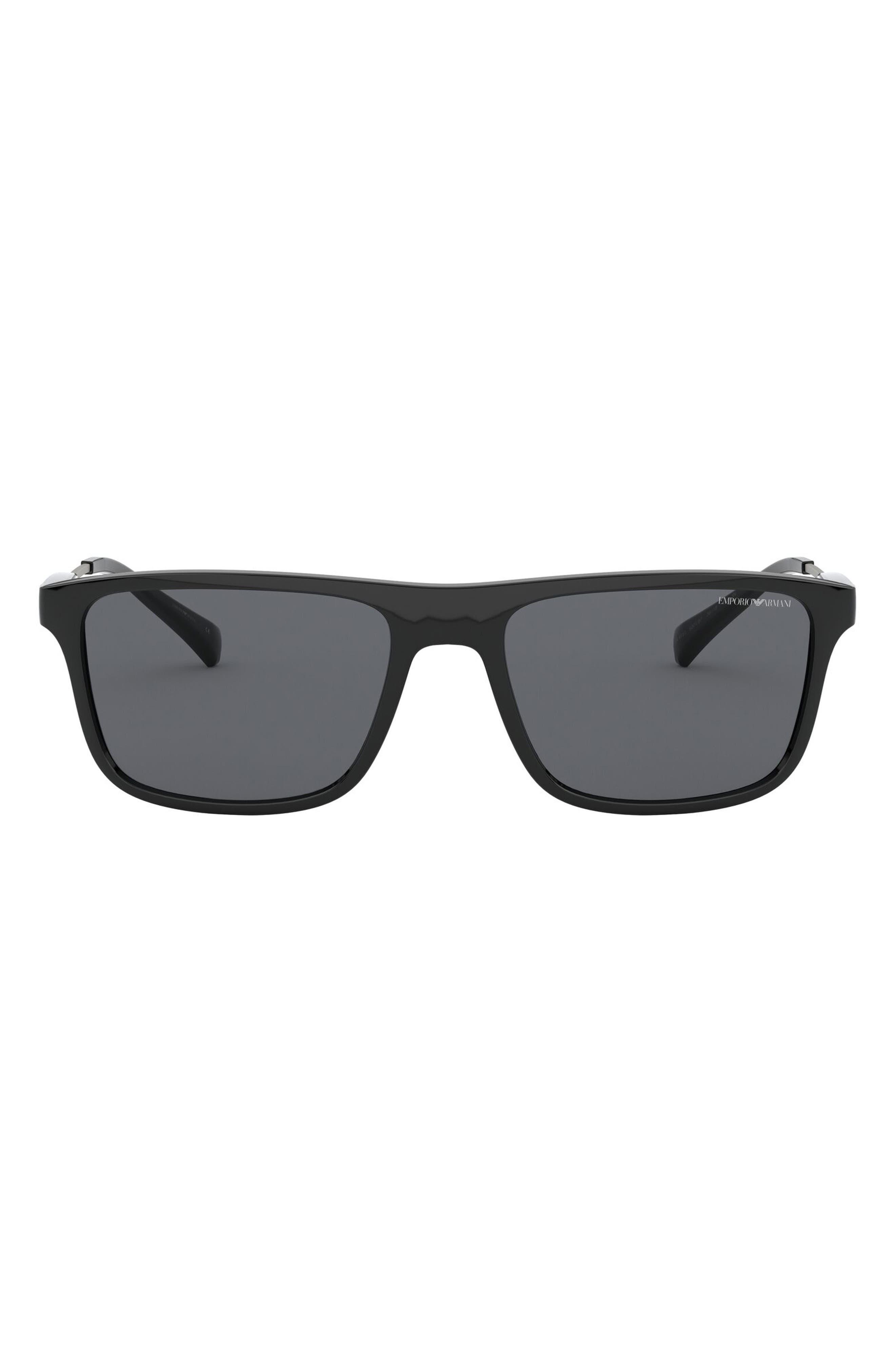 62mm Oversize Rectangular Sunglasses