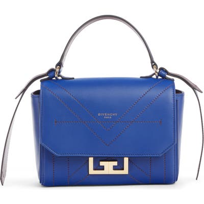 Givenchy Mini Eden Leather Top Handle Bag - Blue