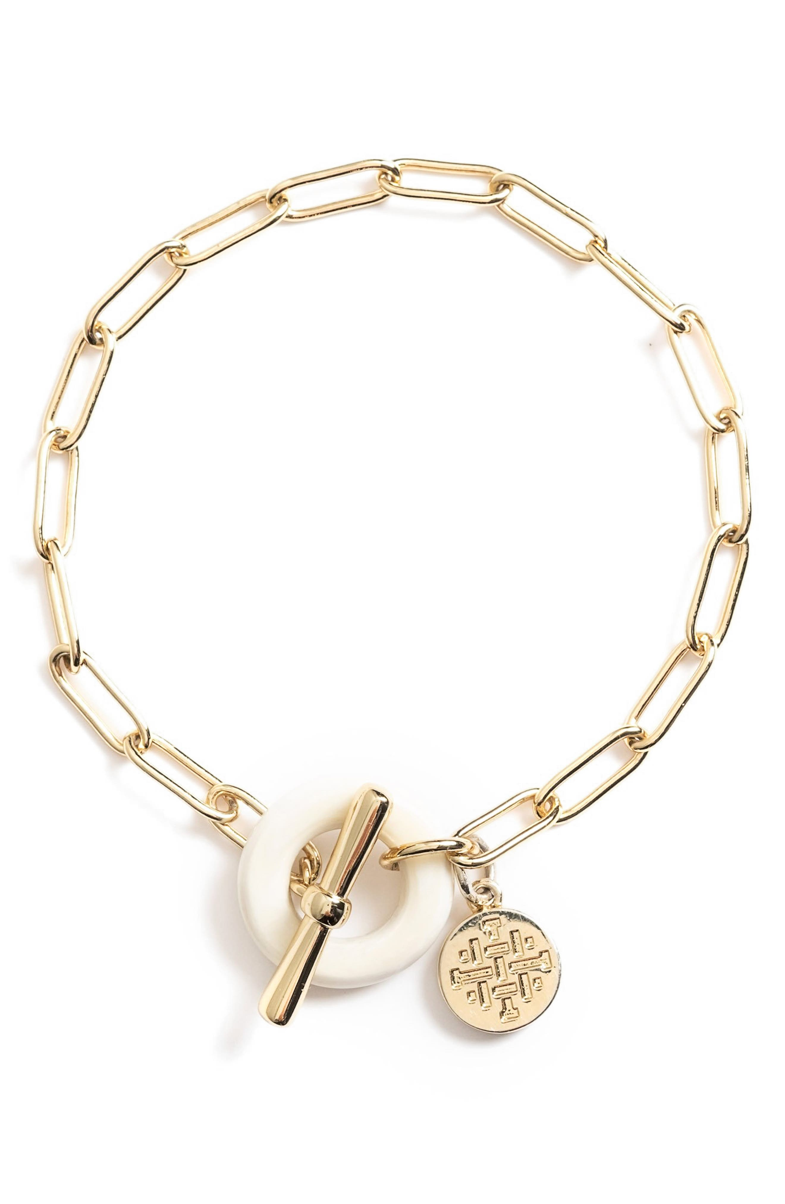 Clover Paper Clip Chain Bracelet