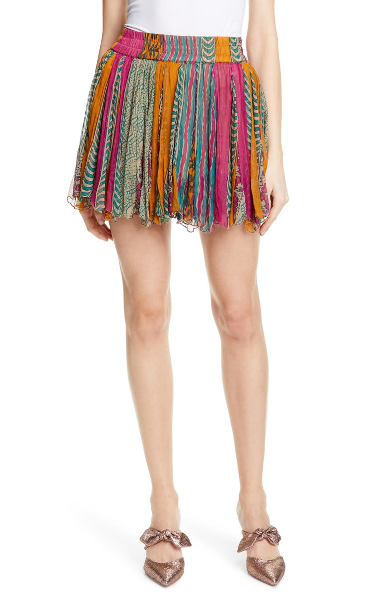 MES DEMOISELLES Guacamole Miniskirt, Main, color, 300