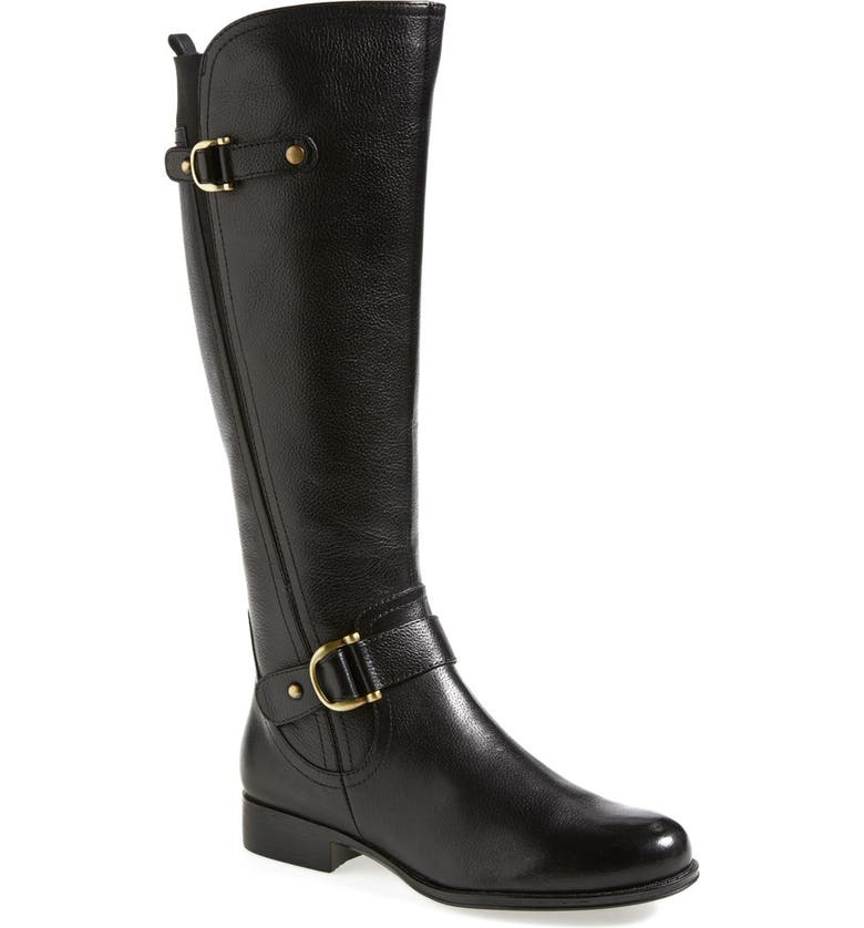 NATURALIZER 'Jersey' Leather Riding Boot, Main, color, 001