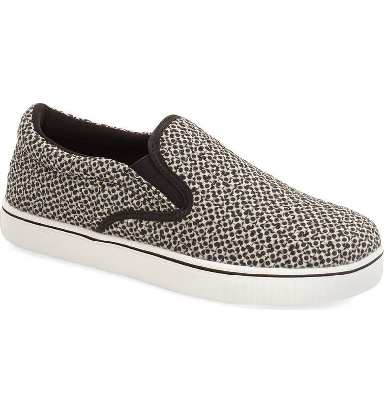BERNIE MEV. 'Verona' Slip-On Sneaker, Main, color, BEIGE POLKA DOTS