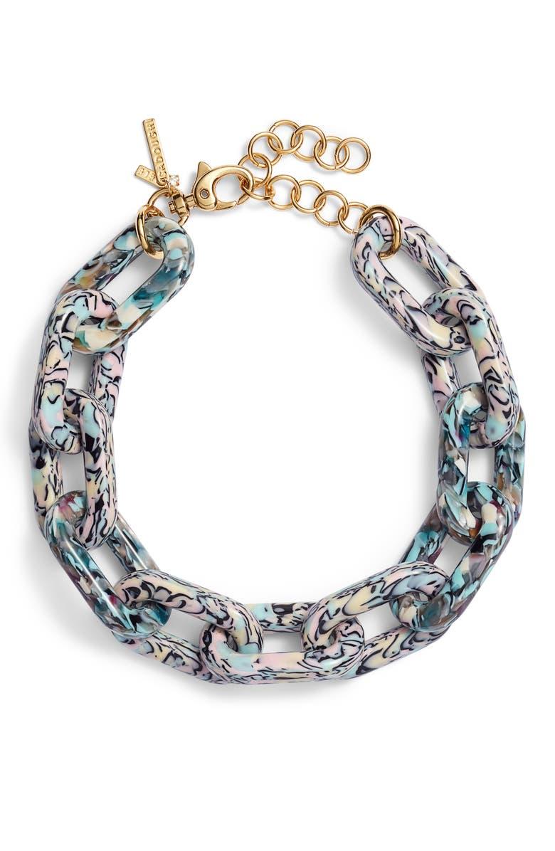LELE SADOUGHI Chain Garland Necklace, Main, color, 440