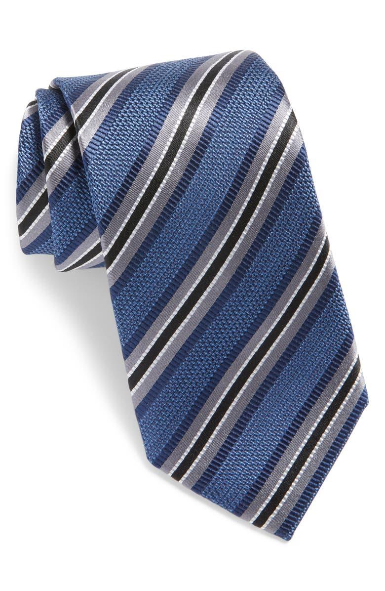 Mens Shop Stripe Silk Tie