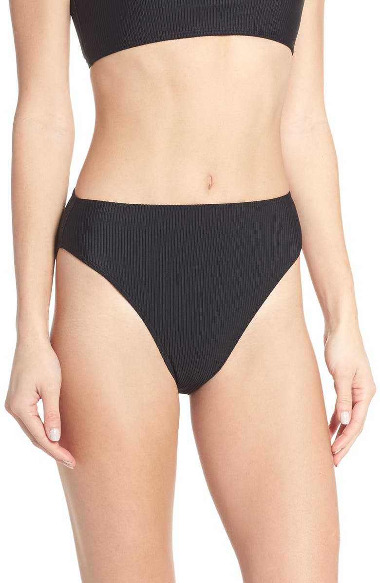 Something Navy High Waist Ribbed Bottoms Exclusive