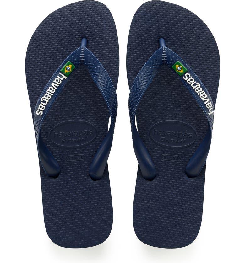 HAVAIANAS Brazil Flip Flop, Main, color, NAVY BLUE