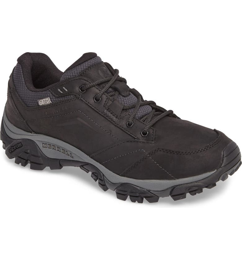 MERRELL Moab Adventure Hiking Shoe, Main, color, BLACK NUBUCK LEATHER
