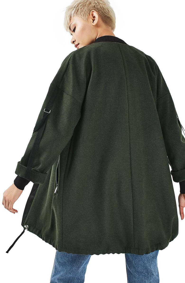 TOPSHOP Bonded Urban Coat, Main, color, 300