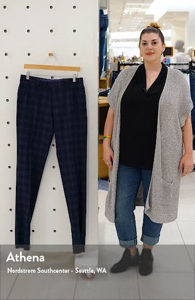 Jerome Flat Front Plaid Wool Dress Pants, sales video thumbnail