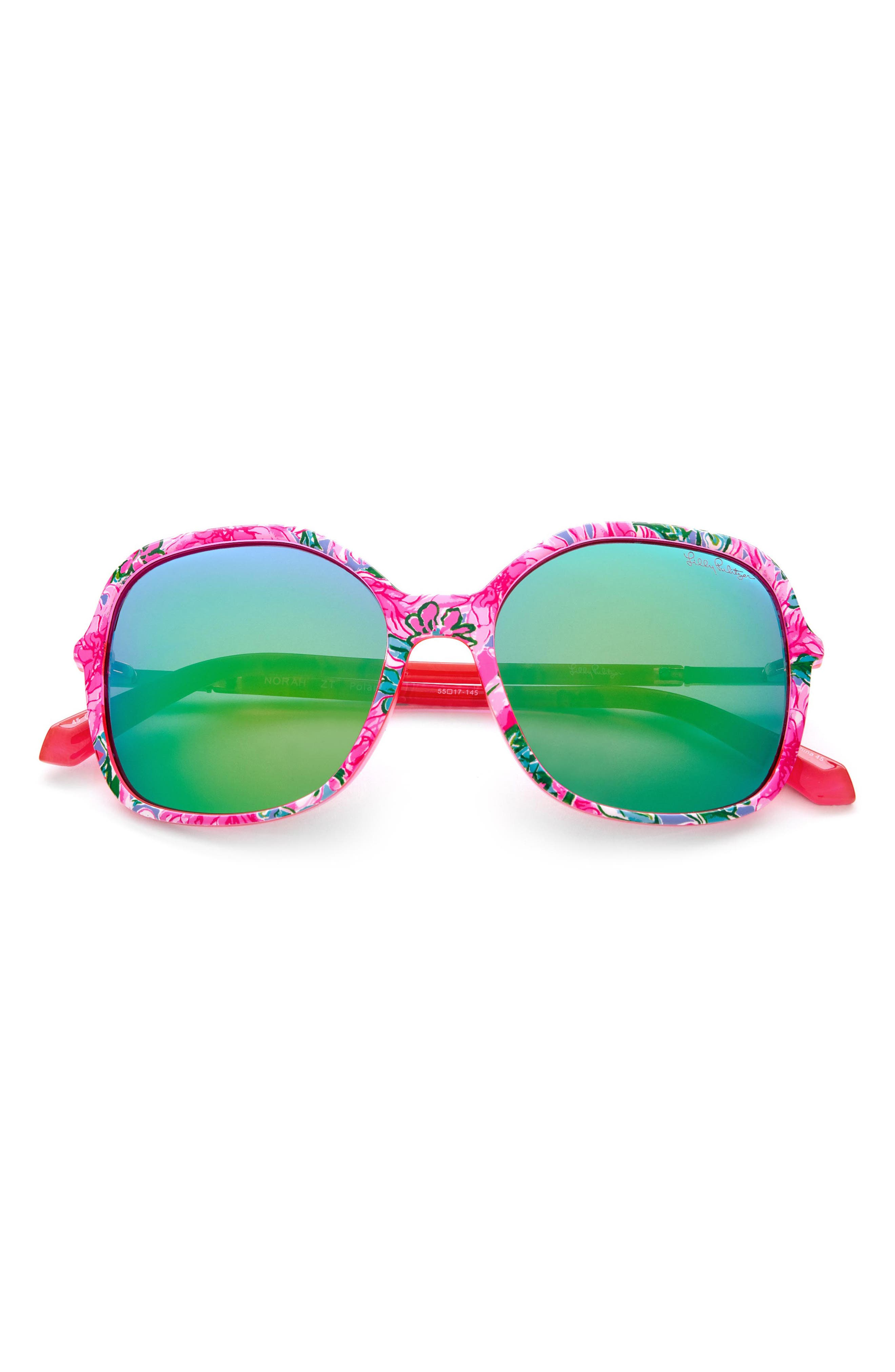 Women's Lilly Pulitzer 55mm Oversized Sunglasses
