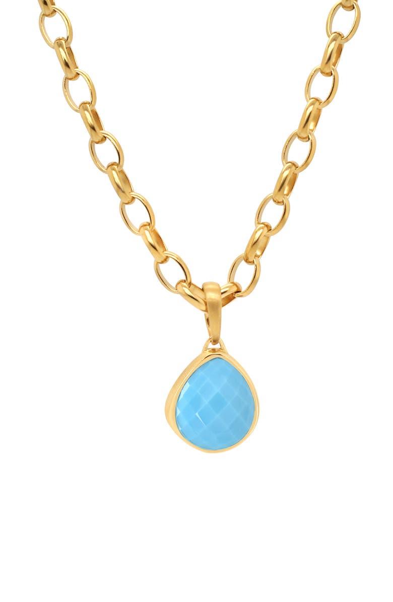 DEAN DAVIDSON Mar Turquoise Pendant Necklace, Main, color, 710