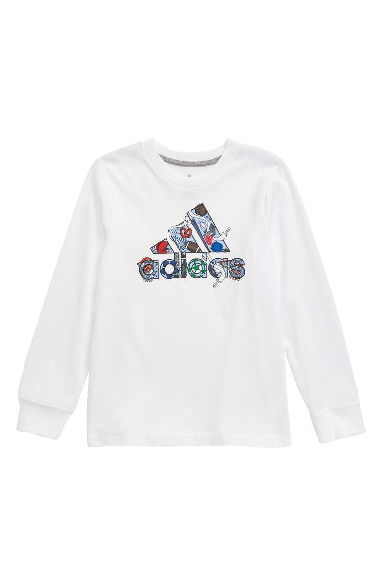 ADIDAS Badge of Sport Long Sleeve T-Shirt, Main, color, WHITE