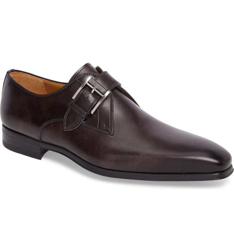 MAGNANNI 'Hugo' Monk Strap Slip-On, Main, color, 020