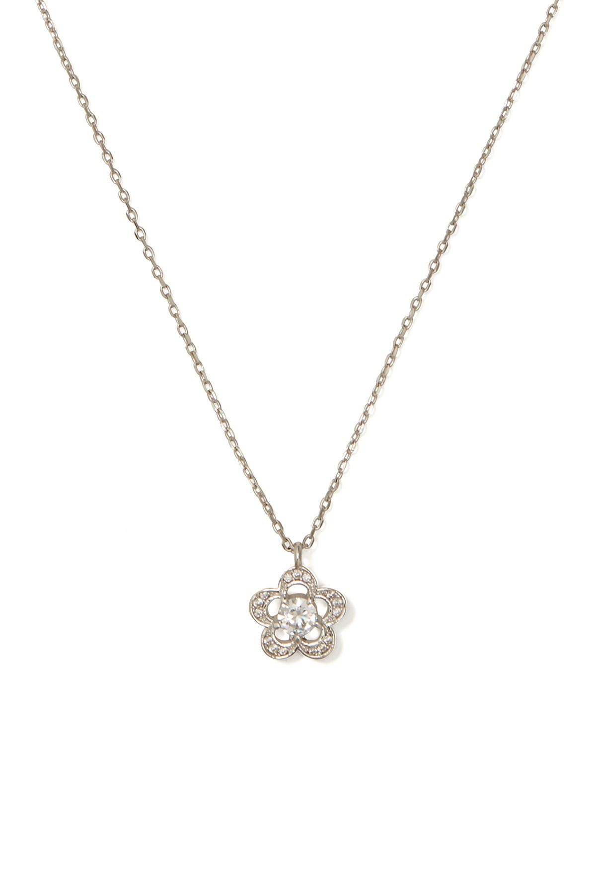 Image of kate spade new york jeweled stencil scallops cz mini pendant necklace