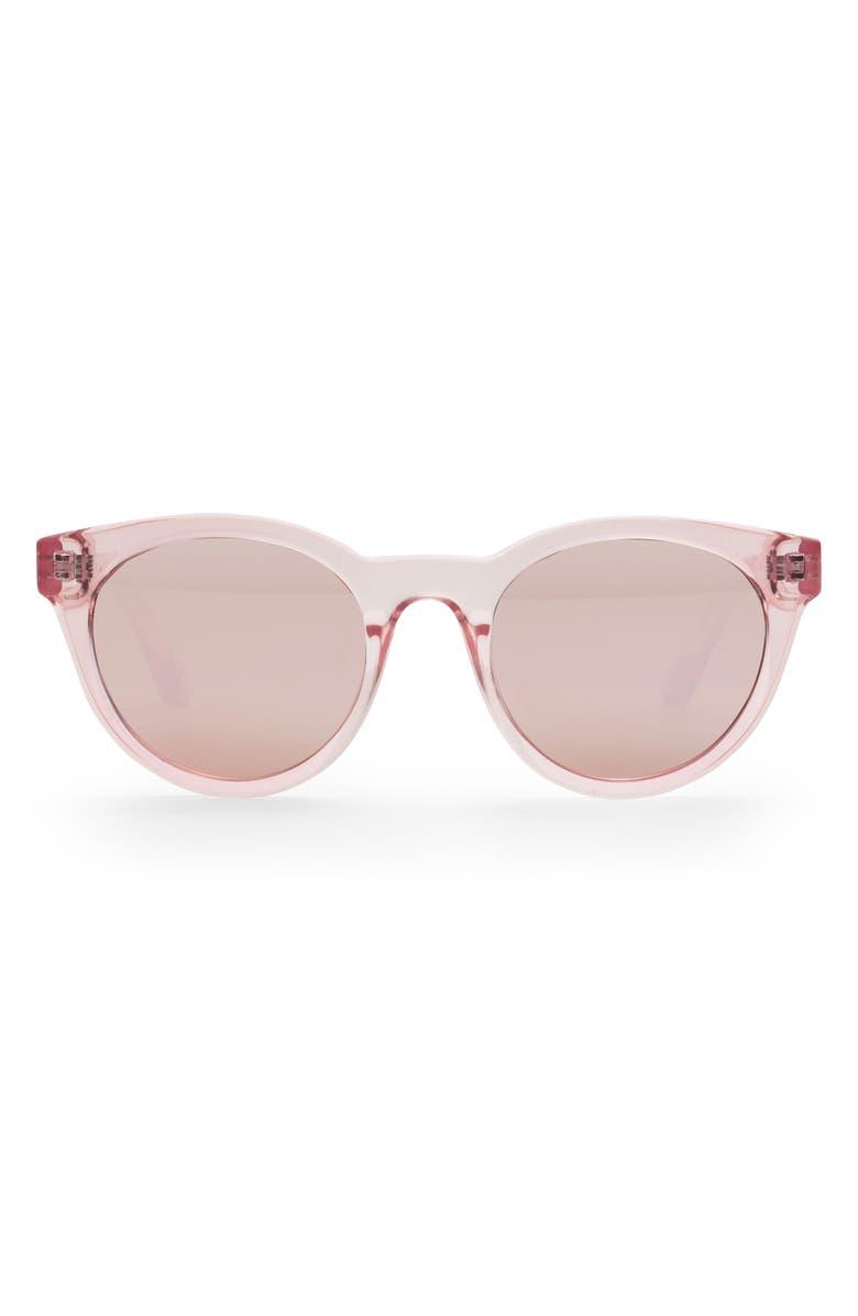 JUNIA Fizz Preppy 48mm Round Sunglasses, Main, color, 650