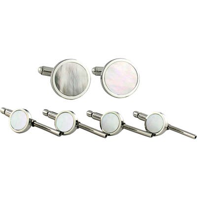David Donahue Mother-Of-Pearl Cuff Link & Stud Set